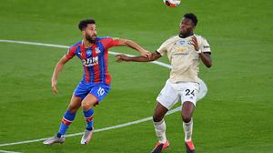 Manchester United's Timothy Fosu-Mensah, right, started his first game for the club since May 2017 (Justin Setterfield/NMC Pool)