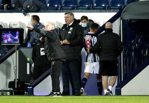 Jake Livermore, second right, is led down the tunnel after being sent off (Andrew Boyers/PA)