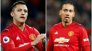 Alexis Sanchez and Chris Smalling will finish the Serie A season with Inter Milan and Roma respectively (PA)