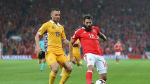 Joe Ledley (right) has urged Crystal Palace to follow in Wales' footsteps