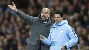 Arsenal head coach Mikel Arteta worked as assistant to Pep Guardiola at Manchester City (Martin Rickett/PA)