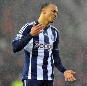 West Brom striker Peter Odemwingie failed in trying to secure a move to QPR in January