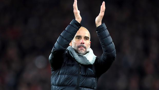 Chelsea boss Frank Lampard still expects a tough test against Manchester City and manager Pep Guardiola, pictured (Peter Byrne/PA)