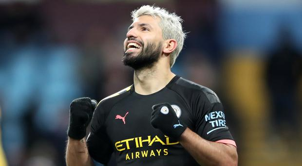 Manchester City striker Sergio Aguero has scored 177 goals in 255 Premier League matches (Nick Potts/PA)