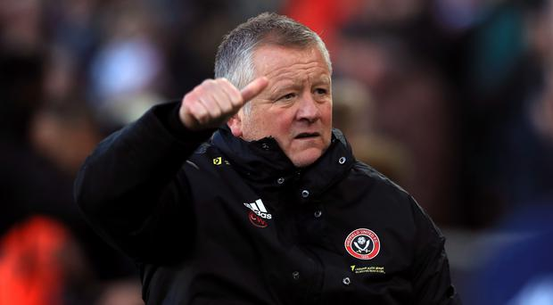 Sheffield United manager Chris Wilder is not looking at the Blades' league position (Mike Egerton/PA)