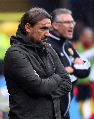 Daniel Farke could see his side relegated (Andy Rain/NMC Pool/PA)