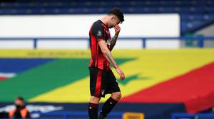 Bournemouth's Diego Rico reacts after the club were relegated (Catherine Ivill/PA)