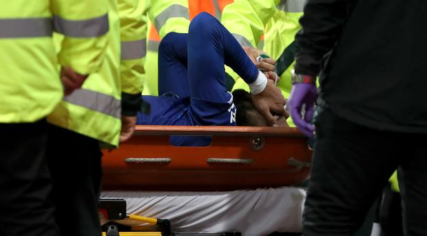 Andre Gomes suffered a serious injury (Nick Potts/PA)