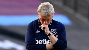 David Moyes was unhappy with his side's late collapse (Ben Stansall/NMC Pool)