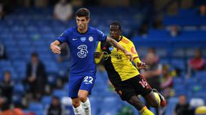 Christian Pulisic, left, impressed again for Chelsea in the 3-0 win over Watford (Mike Hewitt/NMC Pool)
