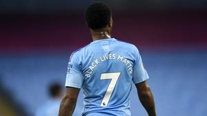 Raheem Sterling believes the movement is making positive strides (Peter Powell/NMC Pool/PA)
