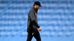 Jurgen Klopp's Liverpool were thrashed by Manchester City (Laurence Griffiths/NMC Pool)
