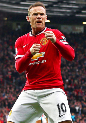 Running scared: United chiefs thought Wayne Rooney was on his way to local rivals Manchester City