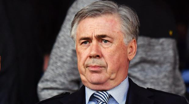 Carlo Ancelotti watched on against Arsenal (Anthony Devlin/PA)