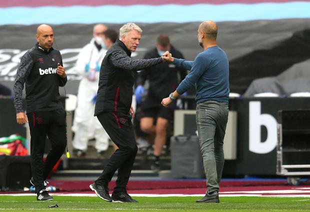 Moyes will take on Pep Guardiola's Manchester City this weekend (Catherine Ivill/PA)