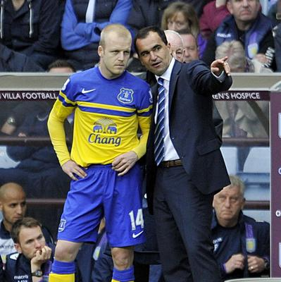Steven Naismith, left, is enjoying working with Roberto Martinez