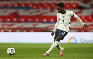 Saka made his England debut in the friendly win over Wales earlier in the season. (Nick Potts/PA)