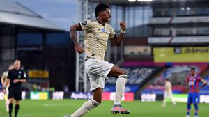 Marcus Rashford scored his 23rd goal of the season for Manchester United in their 2-0 win at Crystal Palace (Justin Setterfield/NMC Pool)
