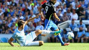 Lazio's Wesley Hoedt, left, has attracted Southampton's interest