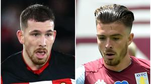 Pierre-Emile Hojbjerg and Jack Grealish could be on the move (Steven Paston/PA/Rui Vieira/NMC Pool)
