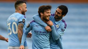 David Silva, centre, is coming to the end of his Manchester City career (Oli Scarff/NMC Pool/PA)