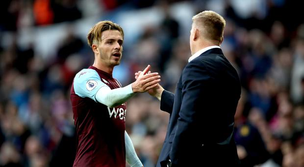 Aston Villa captain Jack Grealish (left) has been told by manager Dean Smith to prove his doubters wrong after being overlooked by England. (Nick Potts/PA)