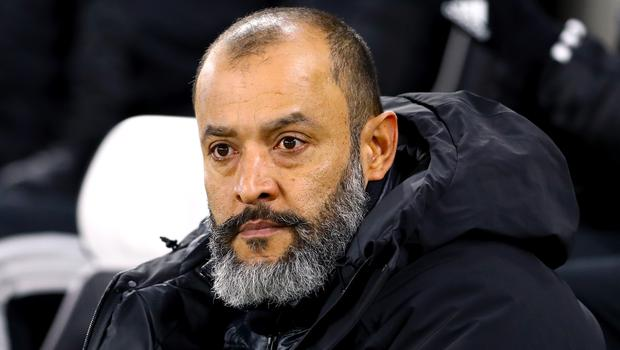 Nuno Espirito Santo's Wolves are without a win in five matches (Gareth Fuller/PA)
