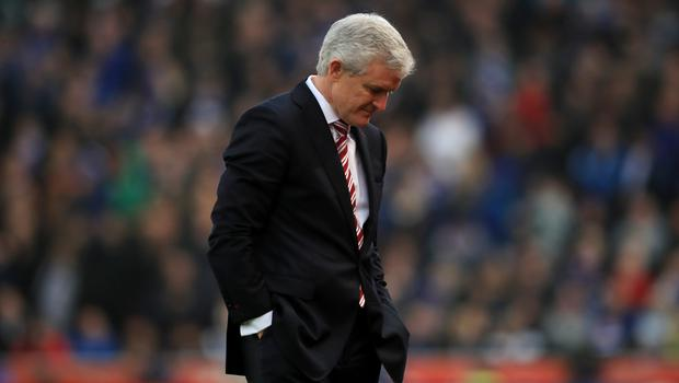 Mark Hughes' Stoke conceded four times in a single game on eight occasions during 2016