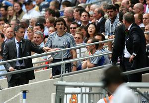 Jose Mourinho, left, and Rui Faria, right, worked together at Chelsea