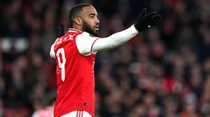Arsenal's Alexandre Lacazette is reported to have inhaled nitrous oxide (John Walton/PA)