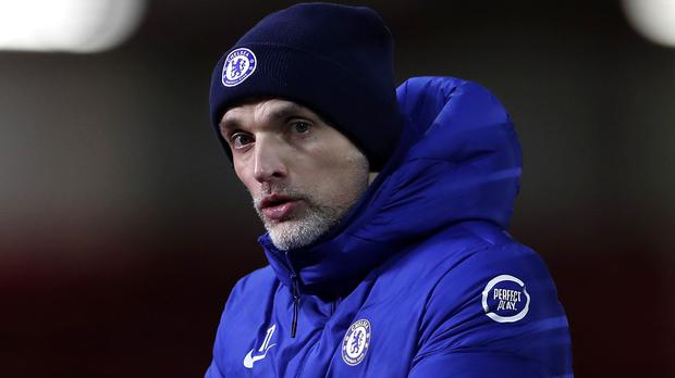 Thomas Tuchel, pictured, insists he cannot have a specific first XI at Chelsea (Lee Smith/PA)