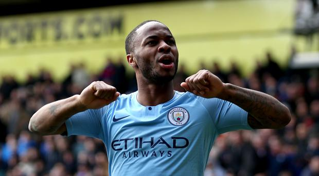Raheem Sterling scored twice against Crystal Palace (Steven Paston/PA)