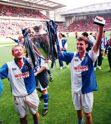 Shearer and Sutton fired Blackburn to the title (John Giles/PA)