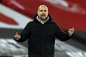 Guardiola has had to make do without Aguero for most of the season due to fitness issues (Paul Childs/PA)