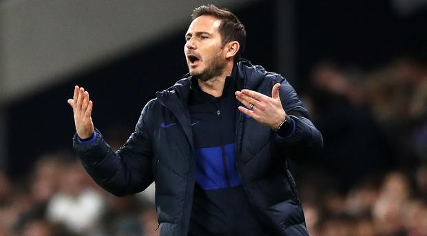 Frank Lampard will back his players' decision if they suffer racist abuse again (Nick Potts/PA)