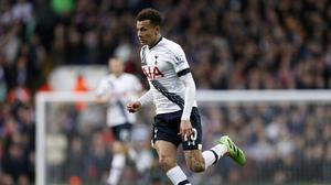 Tottenham's Dele Alli has scored 10 goals from midfield in his debut Premier League season