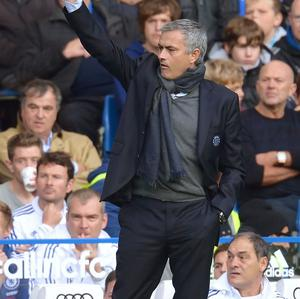 Jose Mourinho was sent to the stands on Saturday