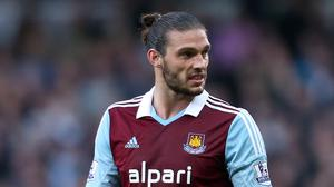 Andy Carroll has suffered an ankle injury