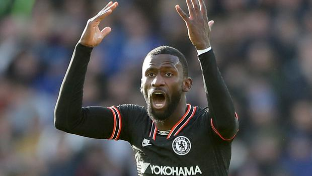 Antonio Rudiger celebrates one of his goals at Leicester (Nick Potts/PA)