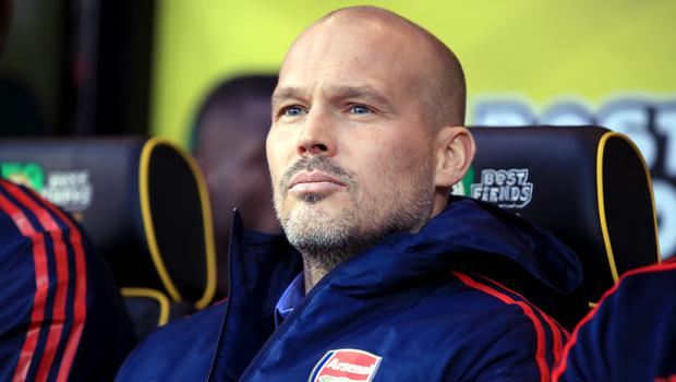 Freddie Ljungberg started life in the Arsenal dugout (Adam Davy/PA)