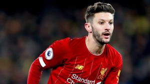 Adam Lallana will not play for Liverpool again (Adam Davy/PA)