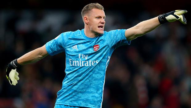 Arsenal's Bernd Leno was the busier of the two goalkeepers at Carrow Road (Nigel French/PA)