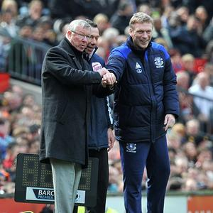 David Moyes, right, is favourite to be the next manager of Manchester United