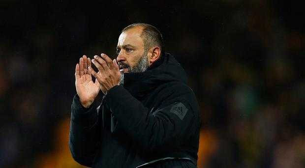 Flying high: Nuno Espirito Santo's side are in sixth place