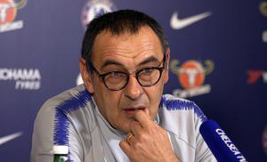 Maurizio Sarri says his position as Chelsea head coach will always be scrutinised (PA Video/PA)