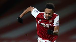 Mikel Arteta hopes Pierre-Emerick Aubameyang, pictured, can find his top goalscoring form (Peter Cziborra/PA)