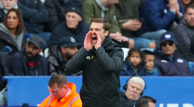 Fulham caretaker manager Scott Parker during the Premier League match at the King Power Stadium, Leicester.
