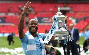 Raheem Sterling has his sights set on another Manchester City treble this season (Nick Potts/PA)