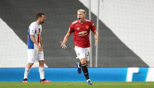 Donny Van de Beek scored in United's defeat to Crystal Palace last weekend (Martin Rickett/PA)