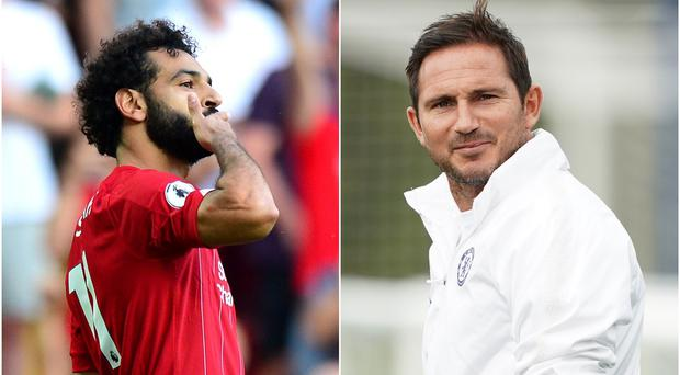Mohamed Salah and Frank Lampard (Anthony Devlin/ Tess Derry/PA)
